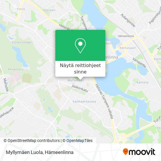 Myllymäen Luola kartta