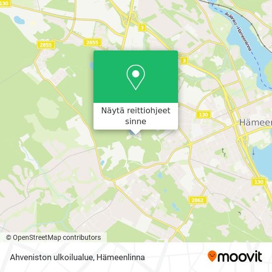 Ahveniston ulkoilualue kartta