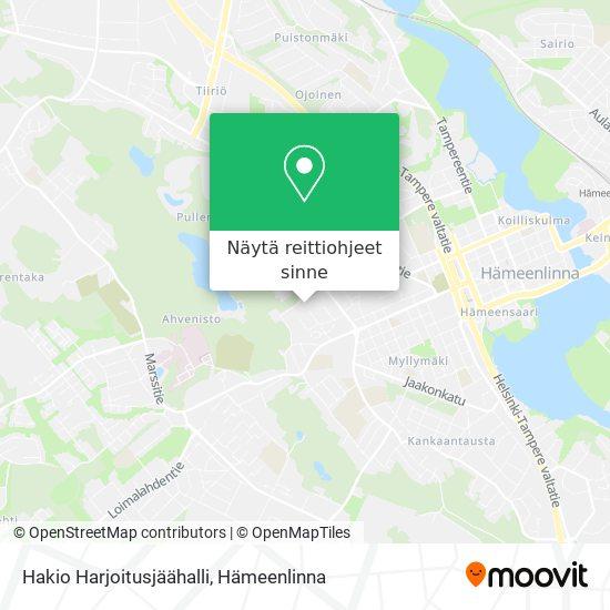 Hakio Harjoitusjäähalli kartta