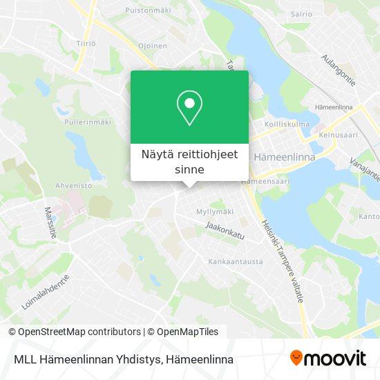 MLL Hämeenlinnan Yhdistys kartta