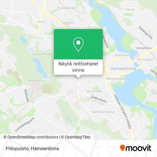 Piilopuisto kartta