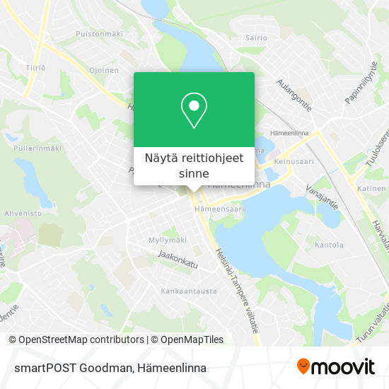 smartPOST Goodman kartta