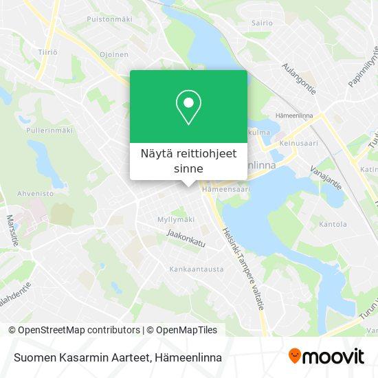 Suomen Kasarmin Aarteet kartta