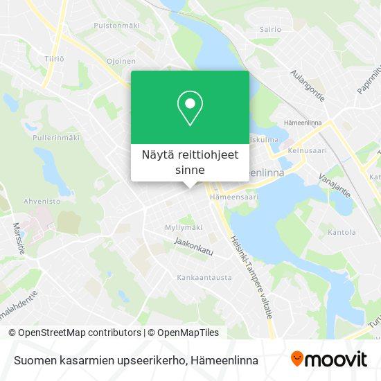 Suomen kasarmien upseerikerho kartta