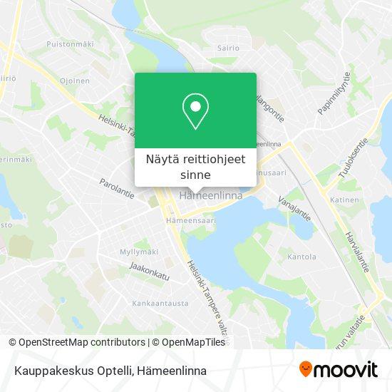 Kauppakeskus Optelli kartta