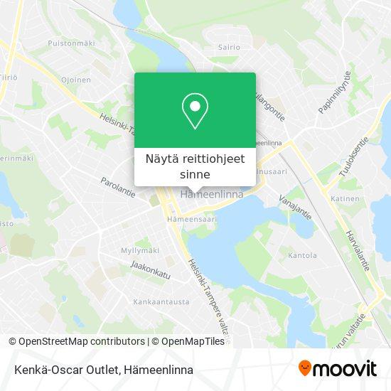 Kenkä-Oscar Outlet kartta