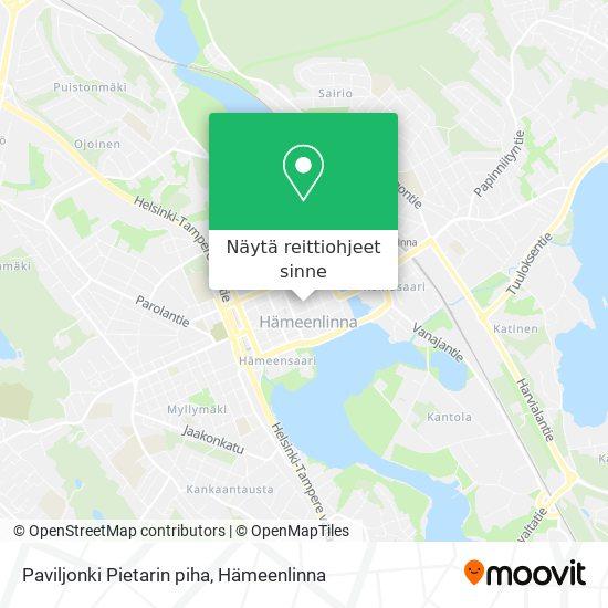 Paviljonki Pietarin piha kartta