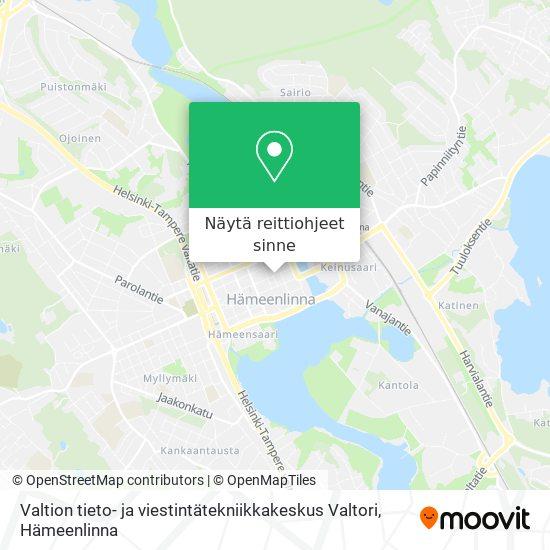Valtion tieto- ja viestintätekniikkakeskus Valtori kartta