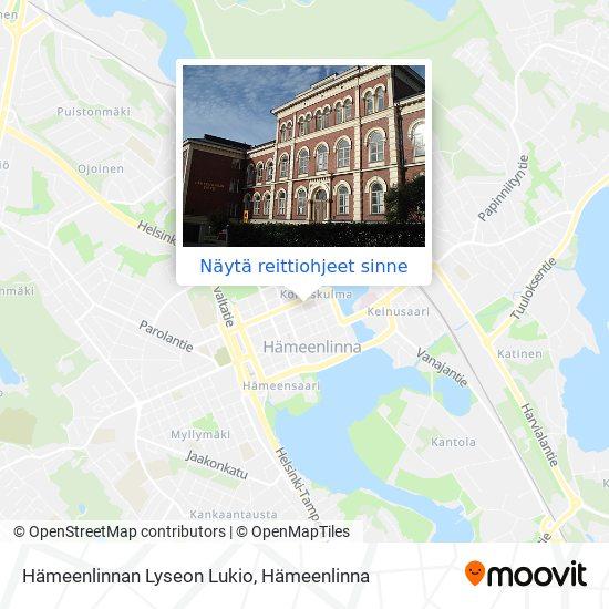 Hämeenlinnan Lyseon Lukio kartta