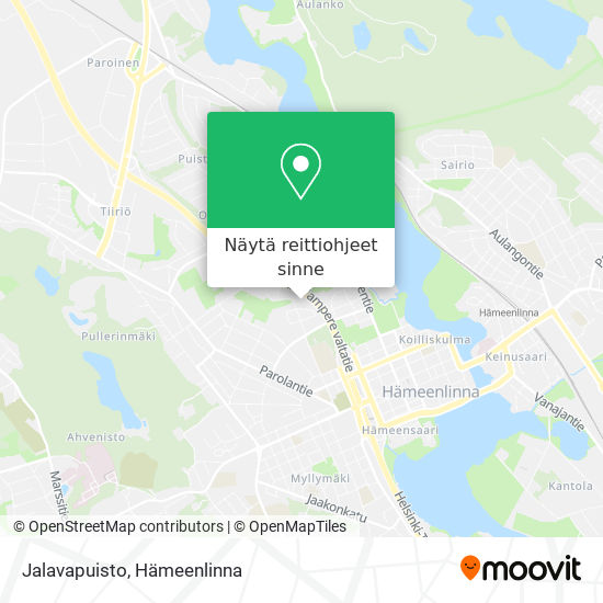 Jalavapuisto kartta