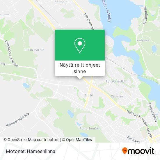 Motonet kartta
