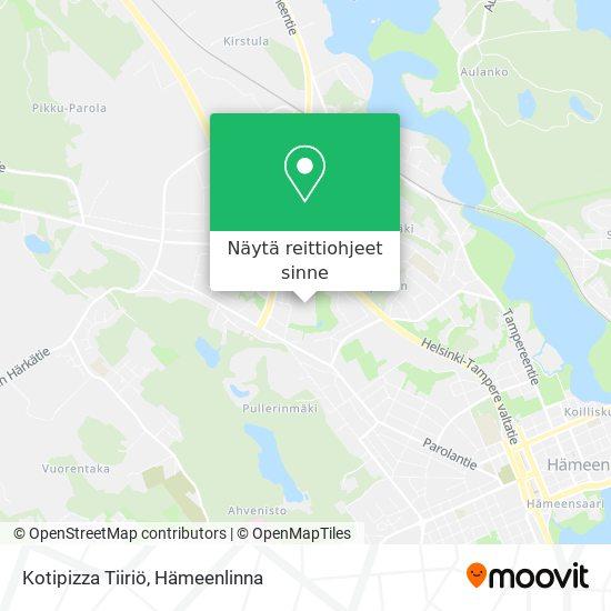 Kotipizza Tiiriö kartta