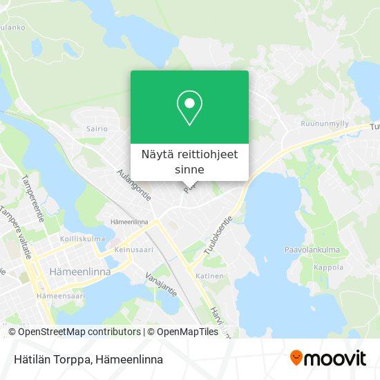 Hätilän Torppa kartta