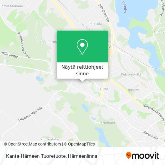 Kanta-Hämeen Tuoretuote kartta