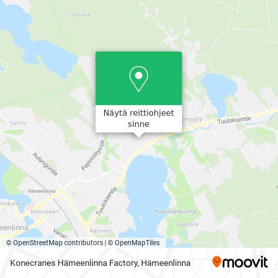 Konecranes Hämeenlinna Factory kartta