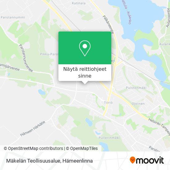 Mäkelän Teollisuusalue kartta