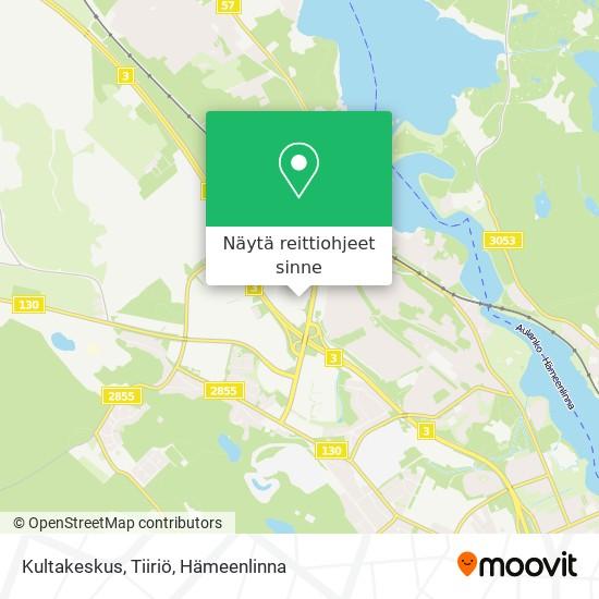 Kultakeskus, Tiiriö kartta