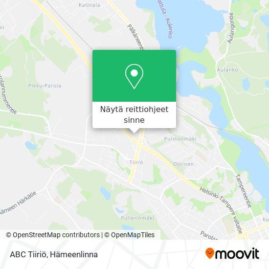 ABC Tiiriö kartta