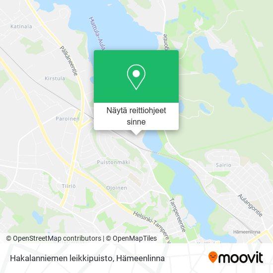 Hakalanniemen leikkipuisto kartta