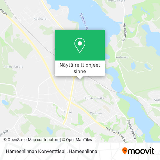 Hämeenlinnan Konventtisali kartta