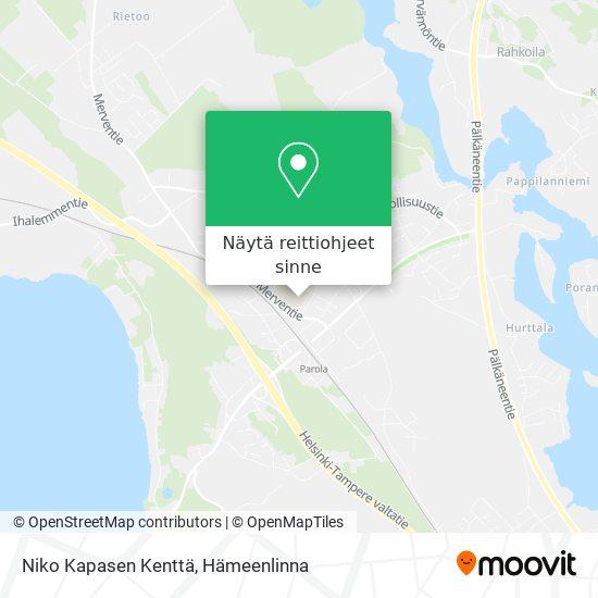 Niko Kapasen Kenttä kartta