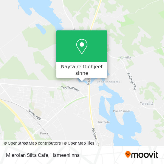 Mierolan Silta Cafe kartta