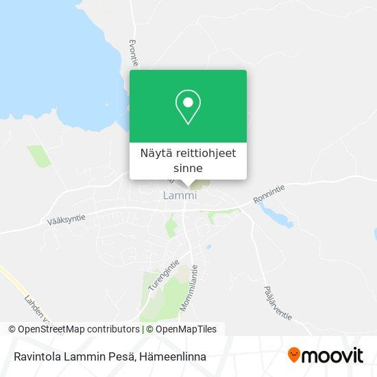 Ravintola Lammin Pesä kartta
