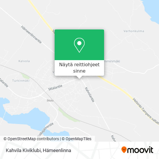 Kahvila Kiviklubi kartta