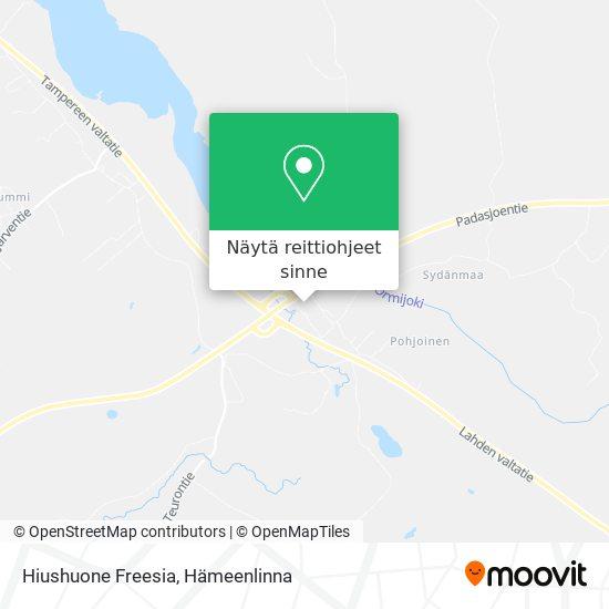 Hiushuone Freesia kartta