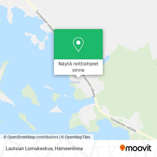 Lautsian Lomakeskus kartta