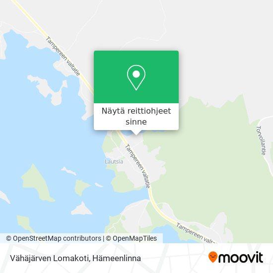 Vähäjärven Lomakoti kartta