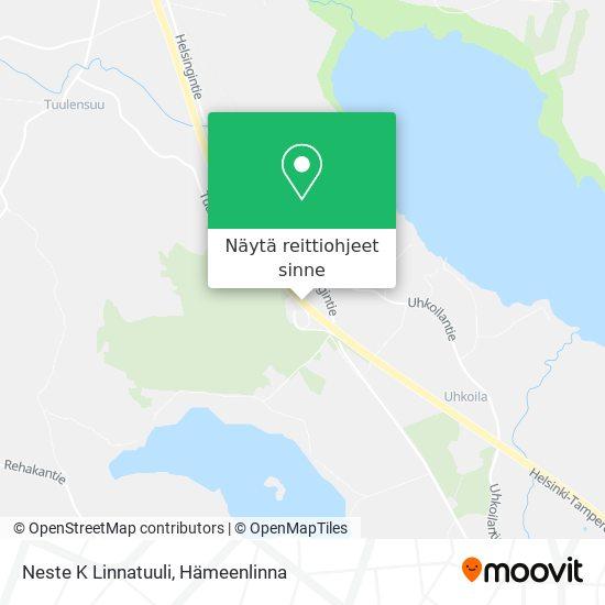 Neste K Linnatuuli kartta