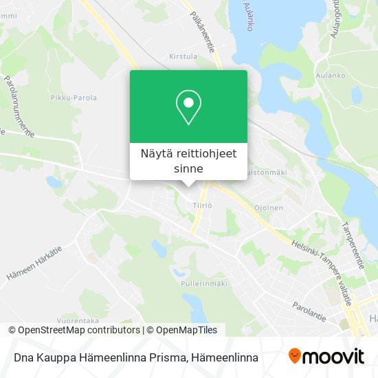 Dna Kauppa Hämeenlinna Prisma kartta