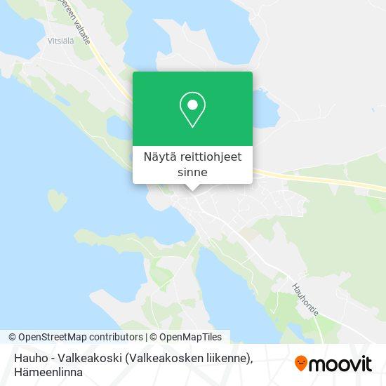 Hauho - Valkeakoski (Valkeakosken liikenne) kartta