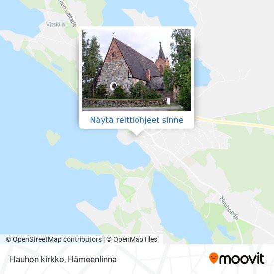Hauhon kirkko kartta