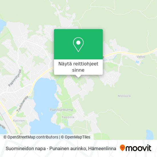 Suomineidon napa - Punainen aurinko kartta