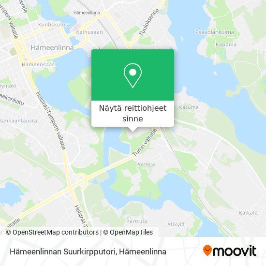Hämeenlinnan Suurkirpputori kartta