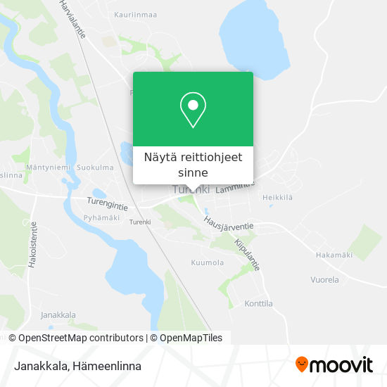 Janakkala kartta