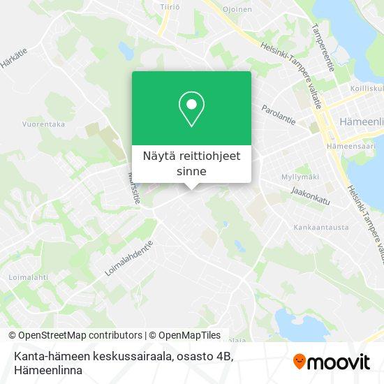 Kanta-hämeen keskussairaala, osasto 4B kartta