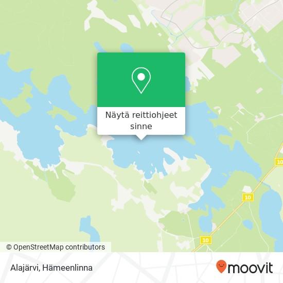 Alajärvi kartta