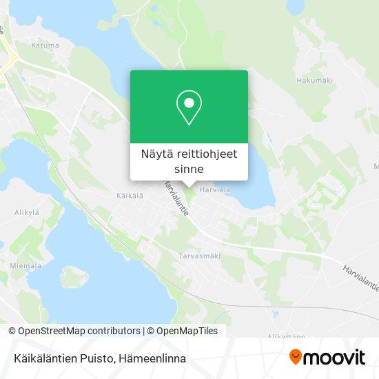 Käikäläntien Puisto kartta