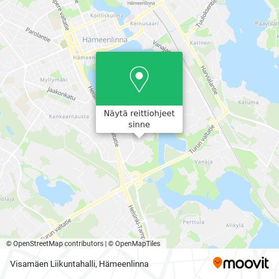 Visamäen Liikuntahalli kartta