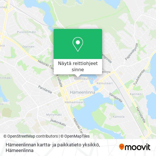 Hämeenlinnan kartta- ja paikkatieto yksikkö kartta
