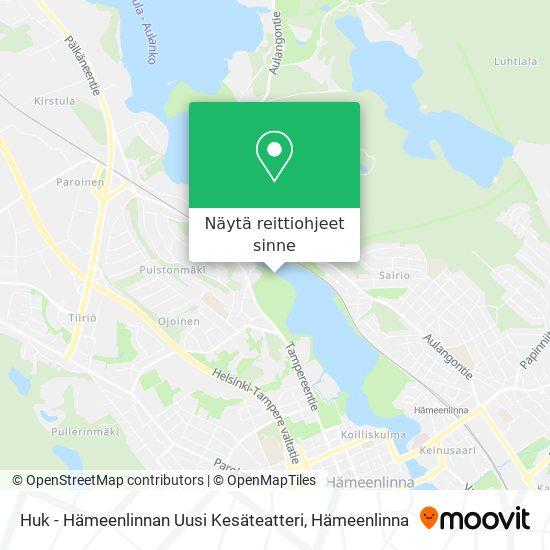 Huk - Hämeenlinnan Uusi Kesäteatteri kartta
