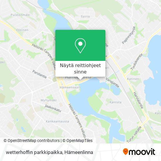 wetterhoffin parkkipaikka kartta