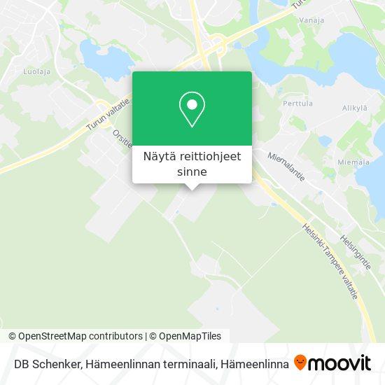 DB Schenker, Hämeenlinnan terminaali kartta