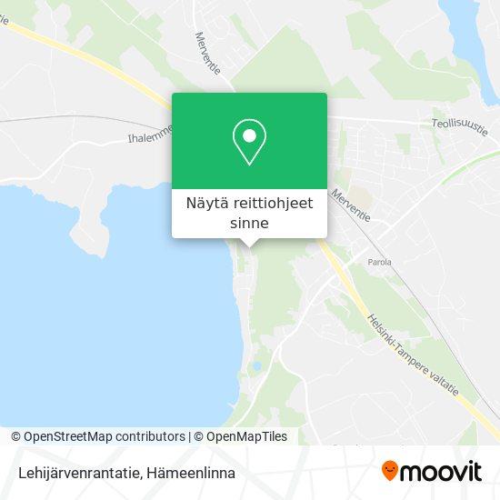 Lehijärvenrantatie kartta
