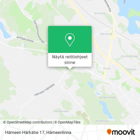 Hämeen Härkätie 17 kartta