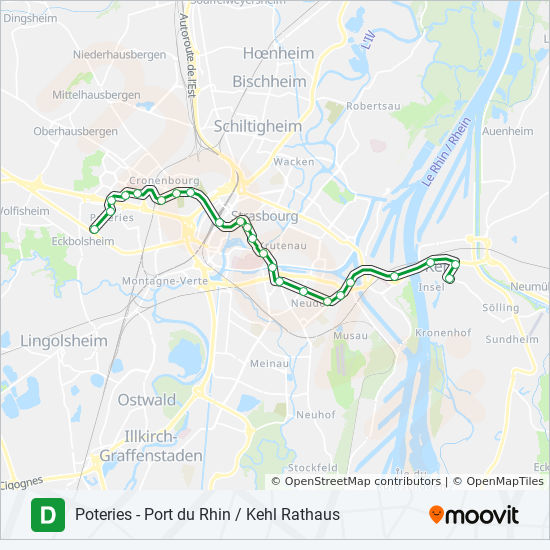 D Route Time Schedules Stops Maps Kehl Rathaus