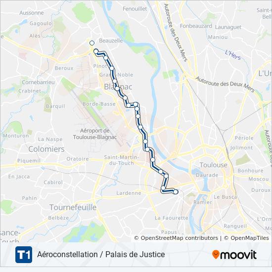 Toulouse Karte.Linie T1 Fahrpläne Haltestelle Karten Palais De Justice Toulouse